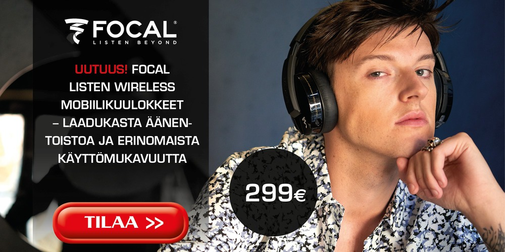 Focal Wireless etusivun noste